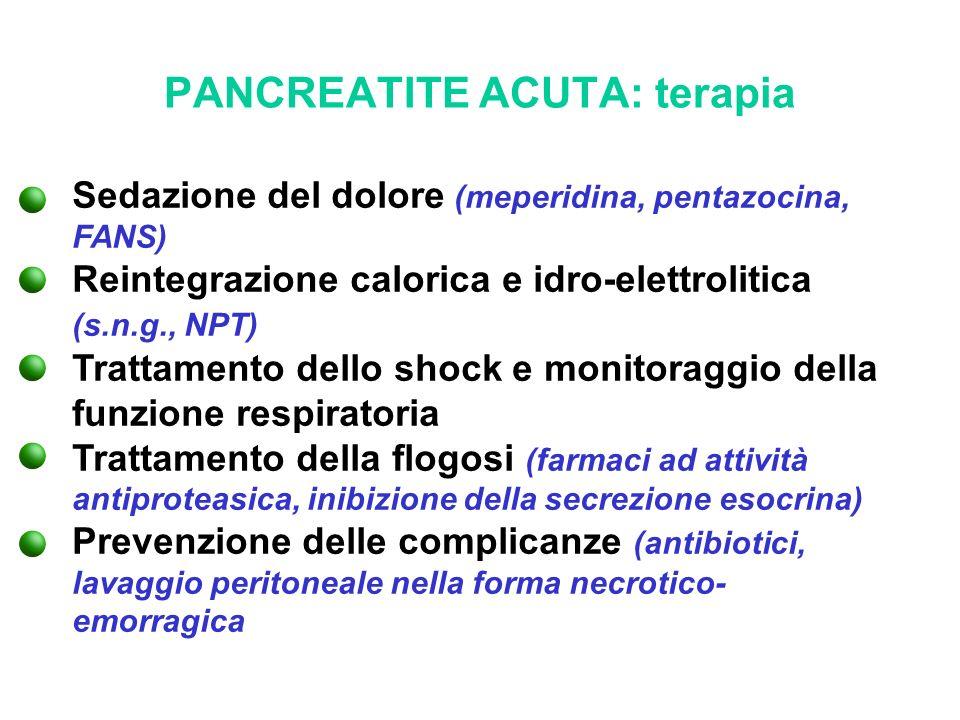 PANCREATITE ACUTA: terapia