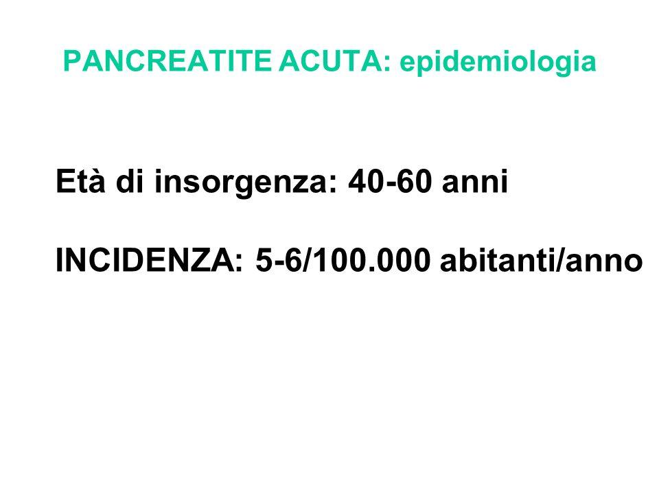 PANCREATITE ACUTA: epidemiologia