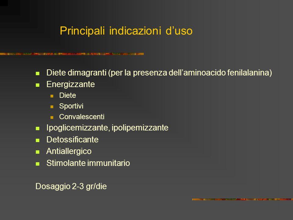 Principali indicazioni d'uso