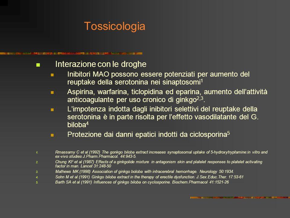 Tossicologia Interazione con le droghe