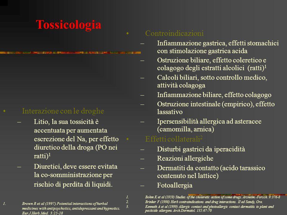 Tossicologia Controindicazioni Effetti collaterali2