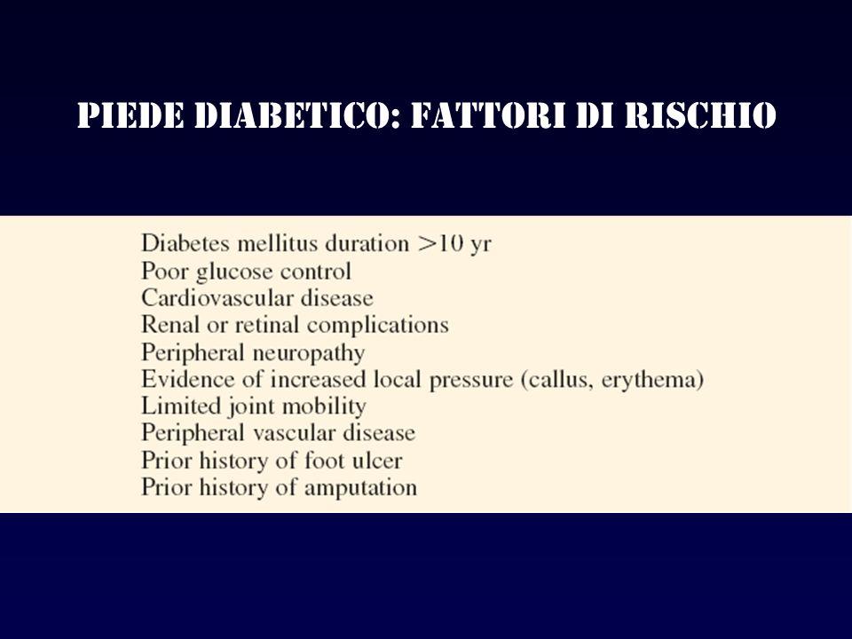 Piede diabetico: fattori di rischio