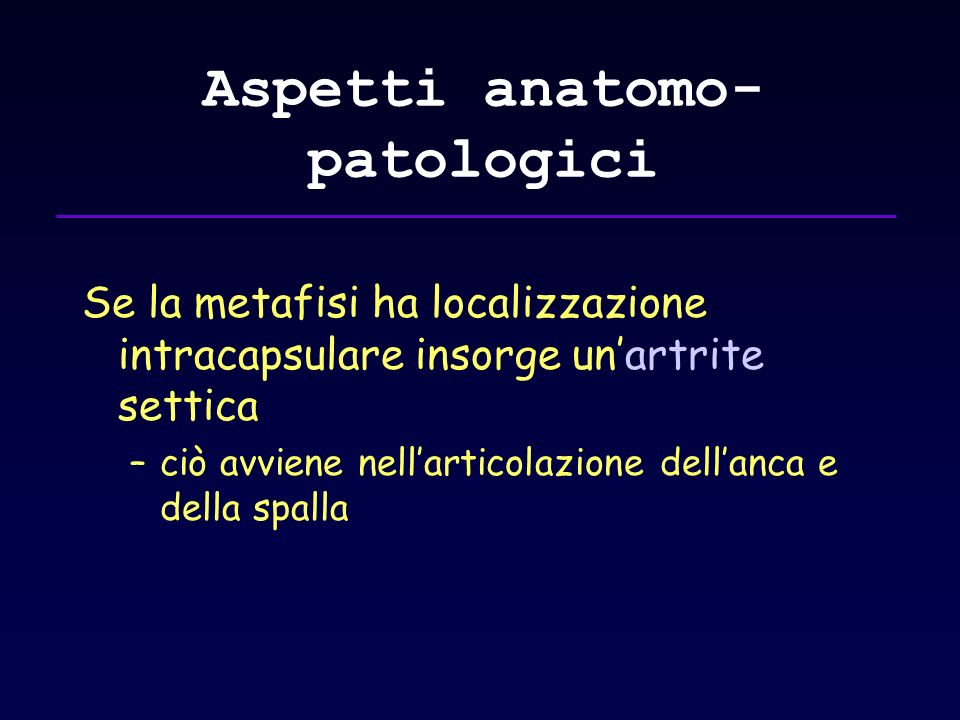 Aspetti anatomo-patologici