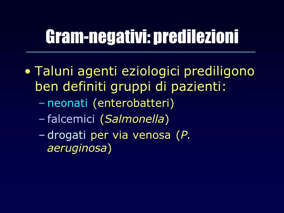 Gram-negativi: predilezioni