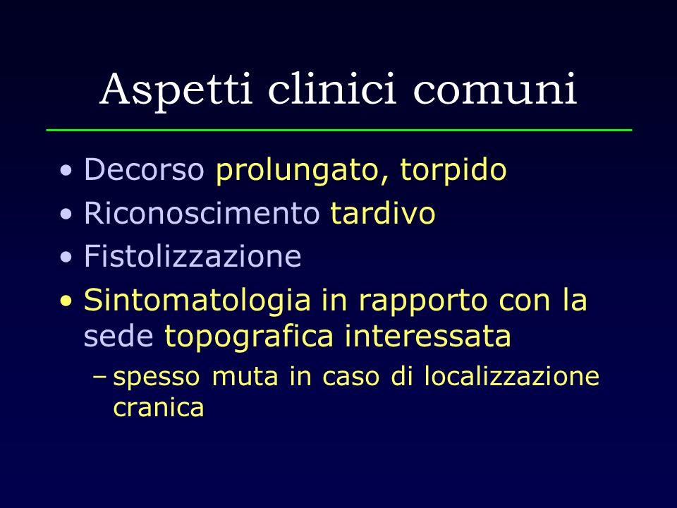 Aspetti clinici comuni