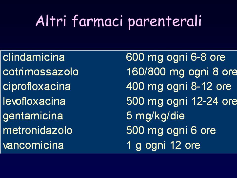 Altri farmaci parenterali