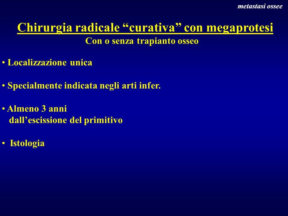 Chirurgia radicale curativa con megaprotesi