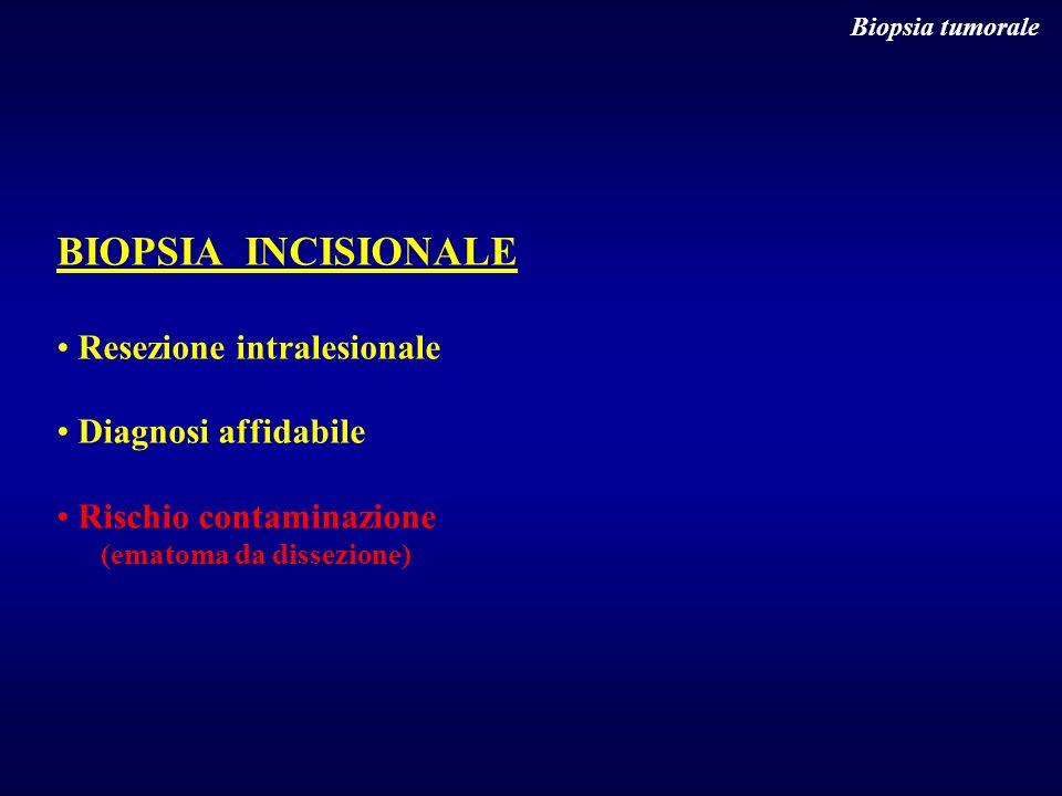 BIOPSIA INCISIONALE Resezione intralesionale Diagnosi affidabile