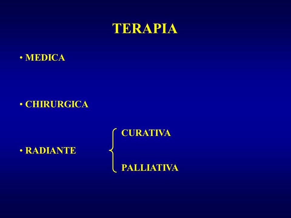 TERAPIA MEDICA CHIRURGICA RADIANTE CURATIVA PALLIATIVA