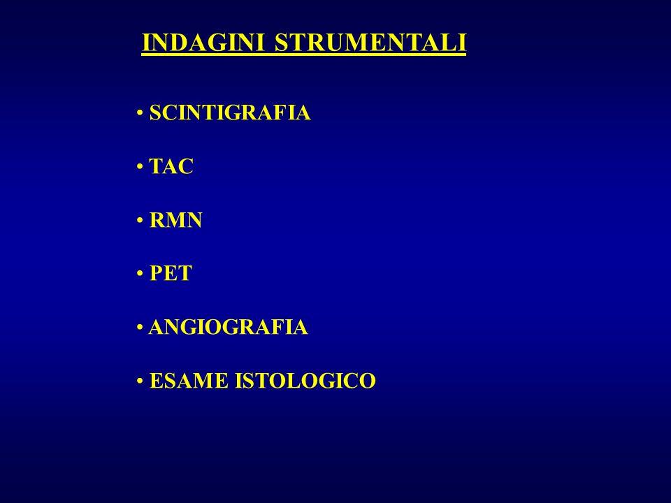 INDAGINI STRUMENTALI SCINTIGRAFIA TAC RMN PET ANGIOGRAFIA