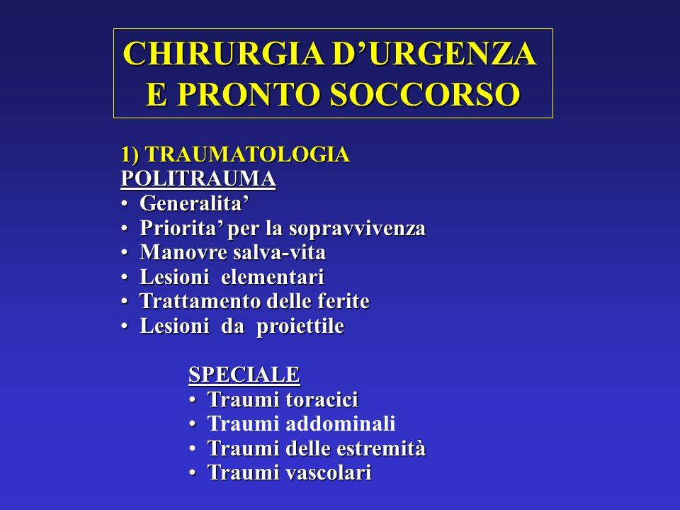 CHIRURGIA D'URGENZA E PRONTO SOCCORSO