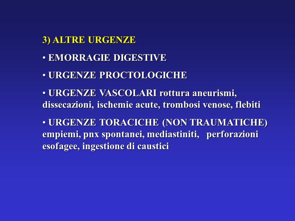 3) ALTRE URGENZEEMORRAGIE DIGESTIVE. URGENZE PROCTOLOGICHE.