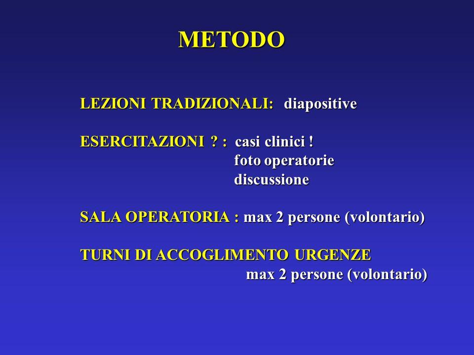 METODO LEZIONI TRADIZIONALI: diapositive