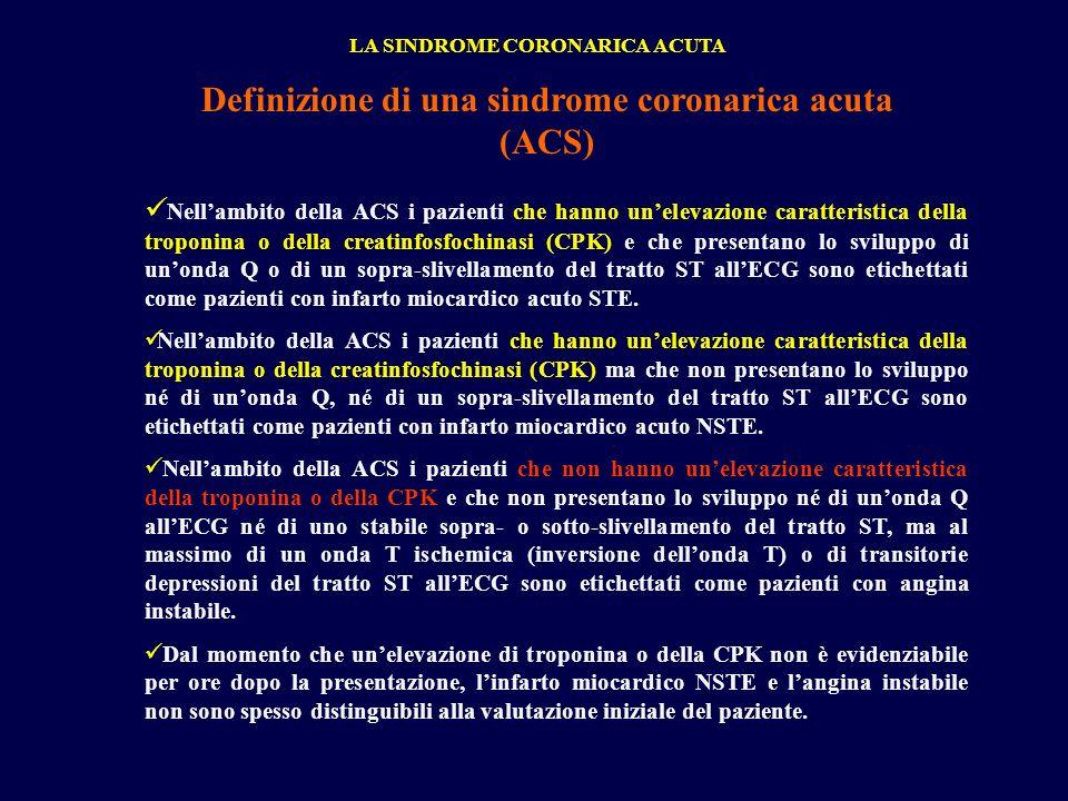 Definizione di una sindrome coronarica acuta (ACS)