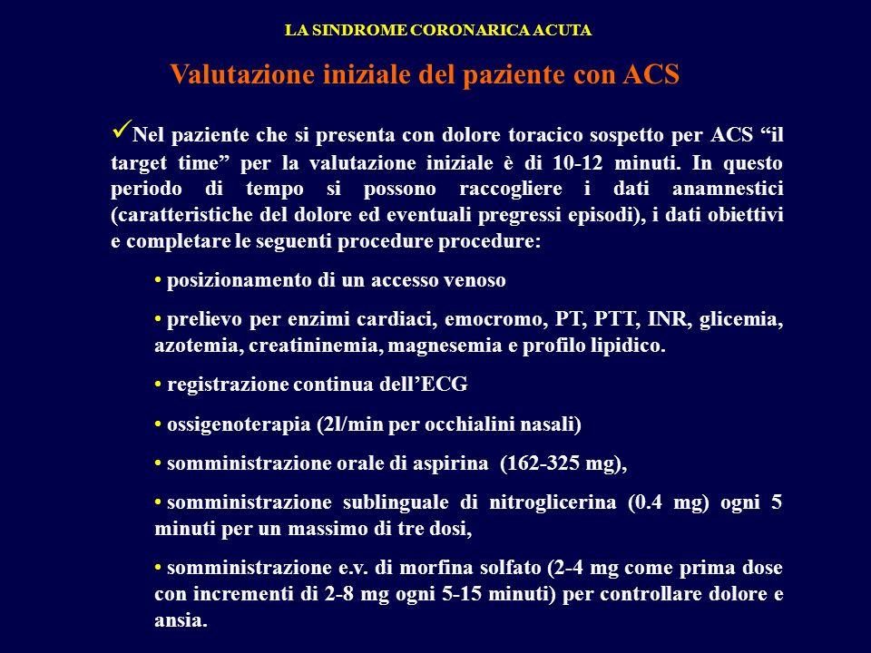 Valutazione iniziale del paziente con ACS