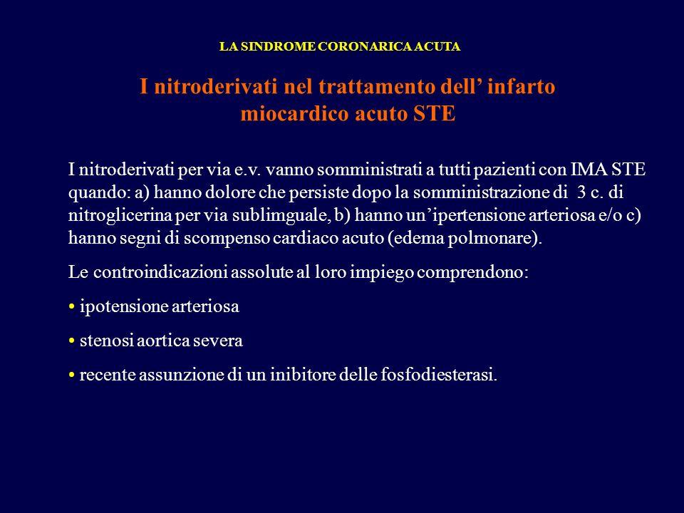 I nitroderivati nel trattamento dell' infarto miocardico acuto STE