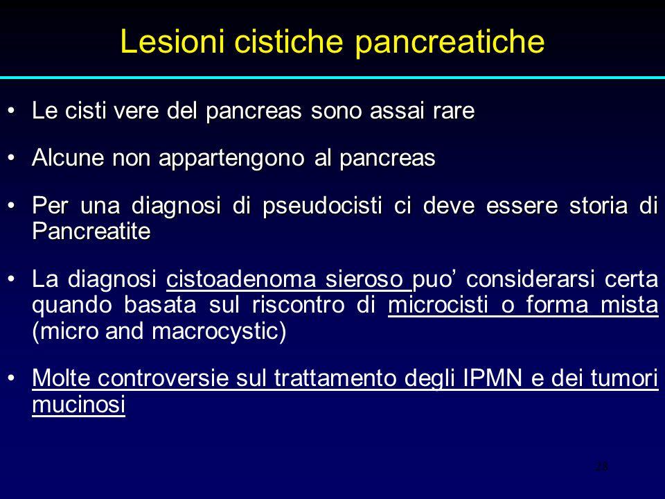 Lesioni cistiche pancreatiche