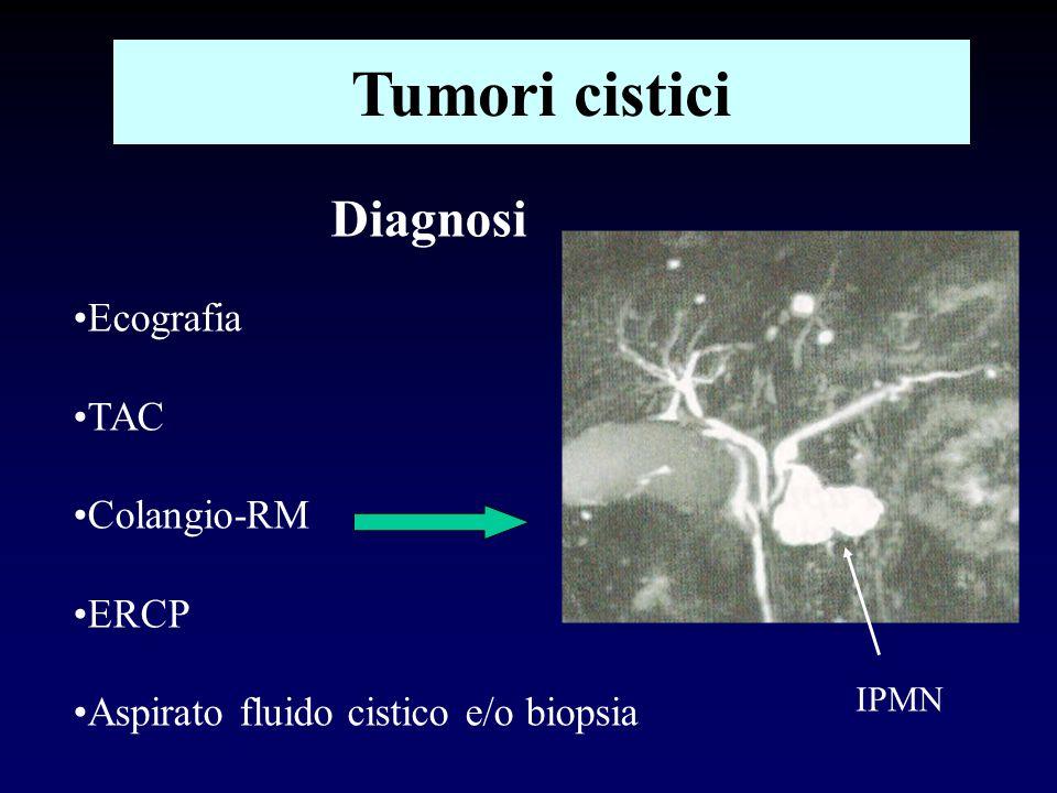 Tumori cistici Diagnosi Ecografia TAC Colangio-RM ERCP