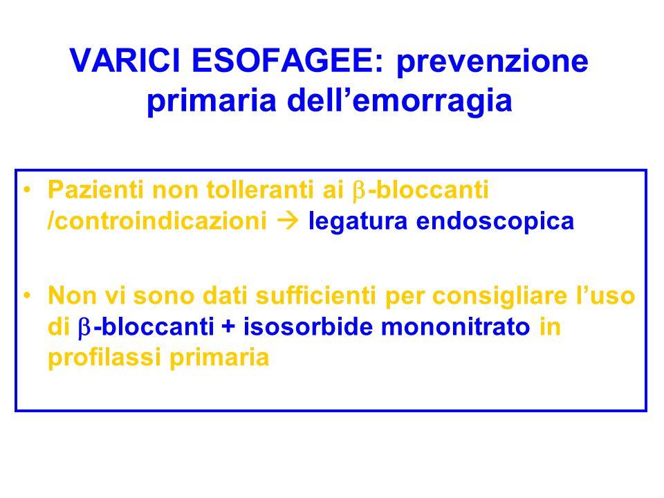 VARICI ESOFAGEE: prevenzione primaria dell'emorragia