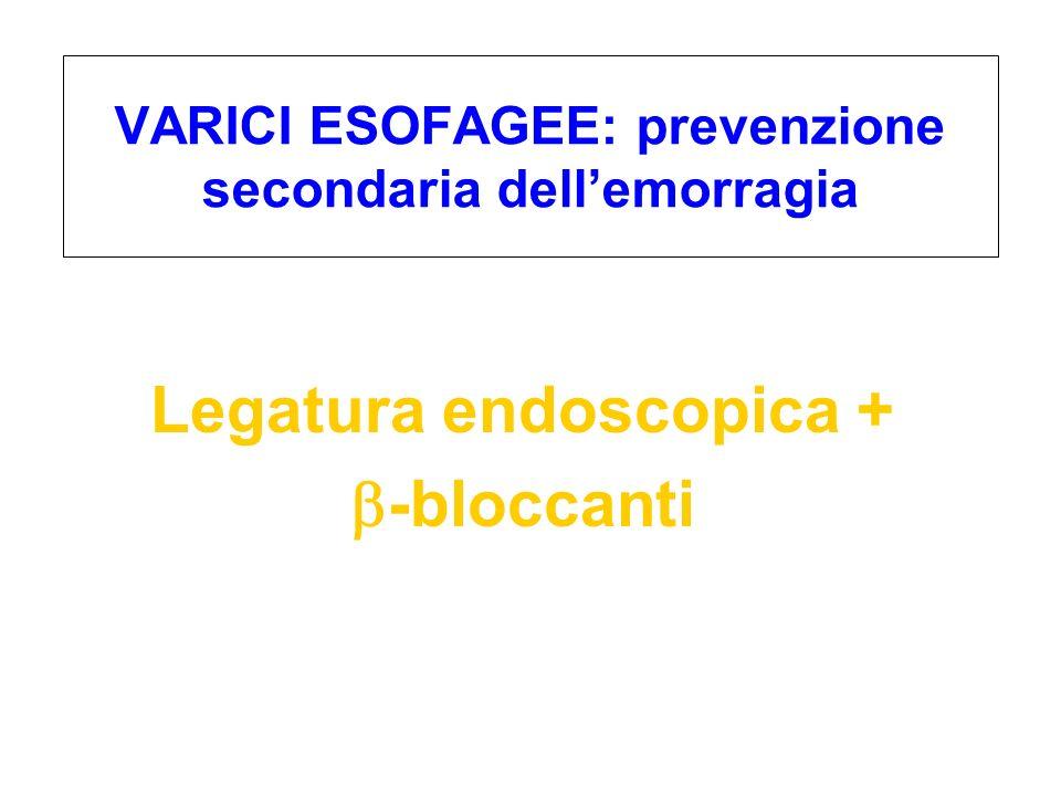 VARICI ESOFAGEE: prevenzione secondaria dell'emorragia