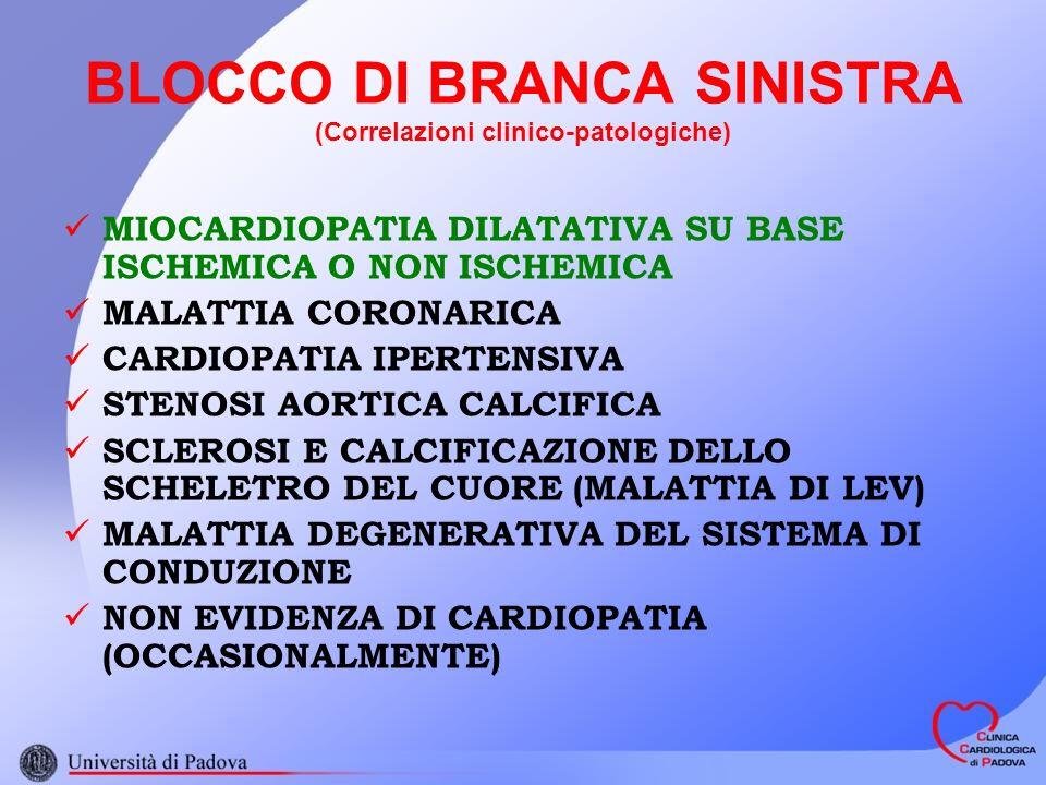 BLOCCO DI BRANCA SINISTRA (Correlazioni clinico-patologiche)