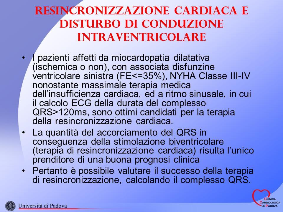 Resincronizzazione cardiaca e disturbo di conduzione intraventricolare