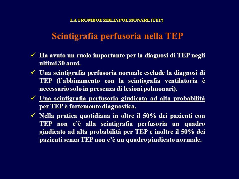 Scintigrafia perfusoria nella TEP