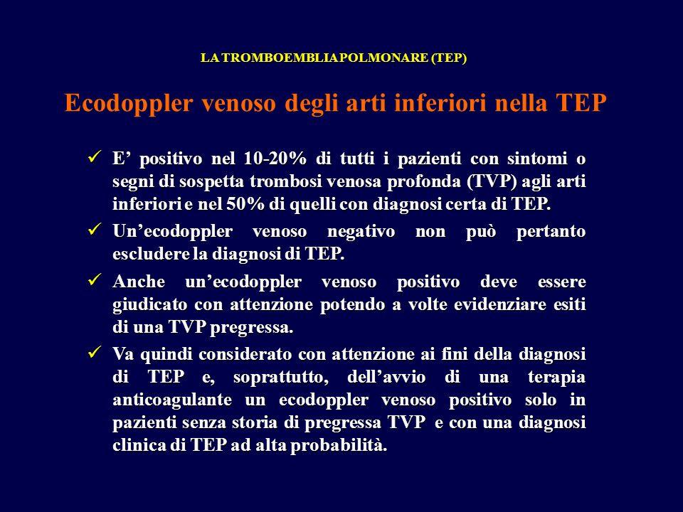 Ecodoppler venoso degli arti inferiori nella TEP