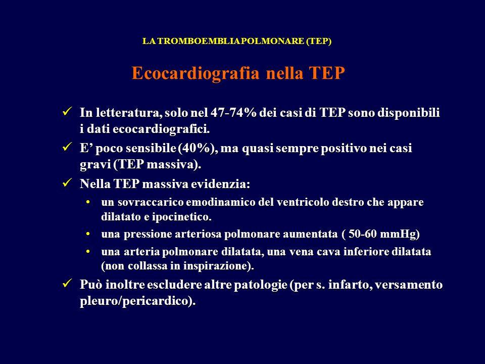 Ecocardiografia nella TEP