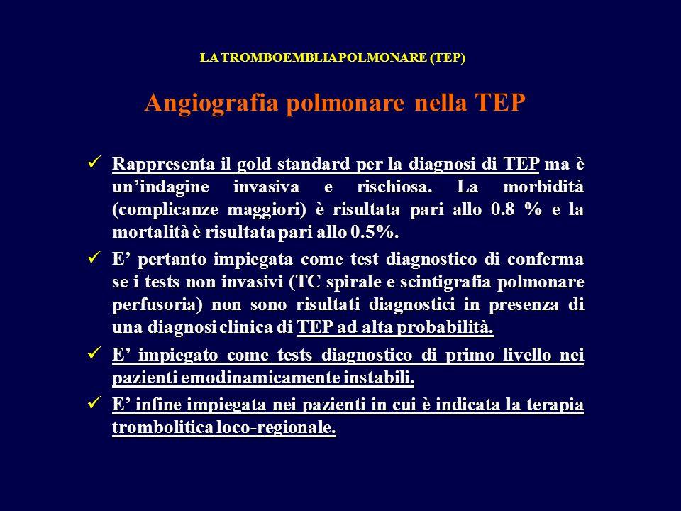 Angiografia polmonare nella TEP