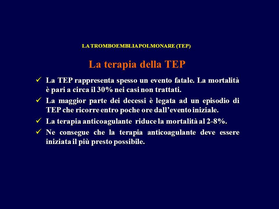 LA TROMBOEMBLIA POLMONARE (TEP)