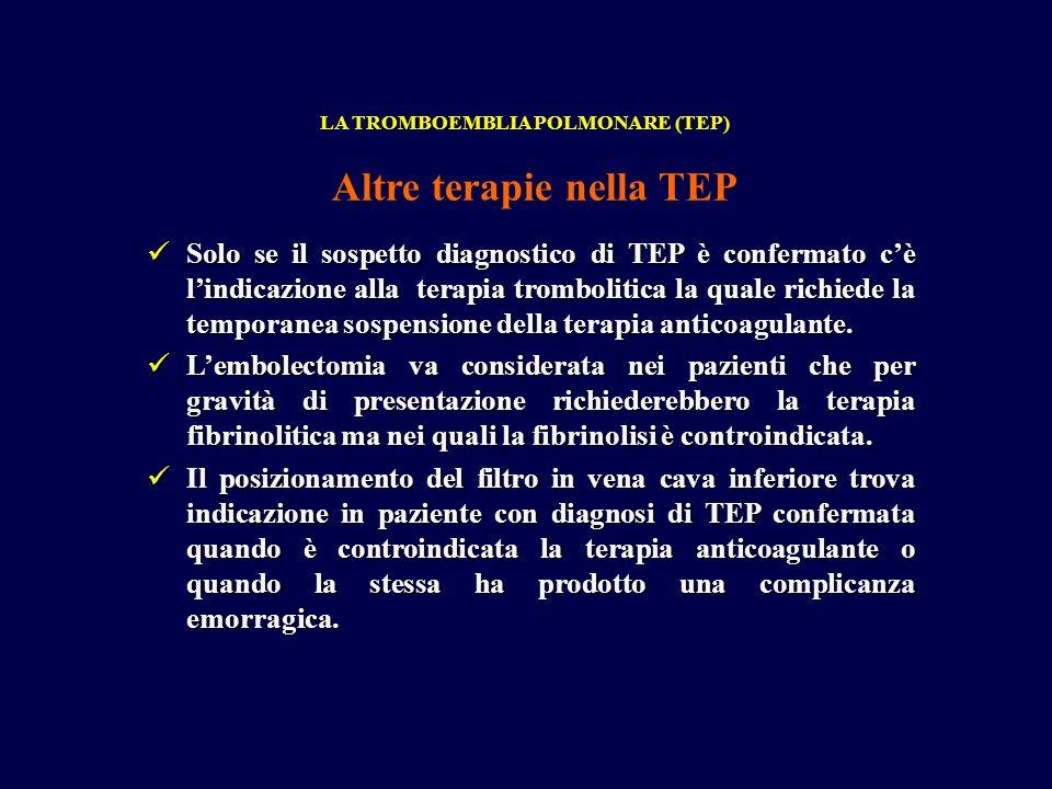 Altre terapie nella TEP
