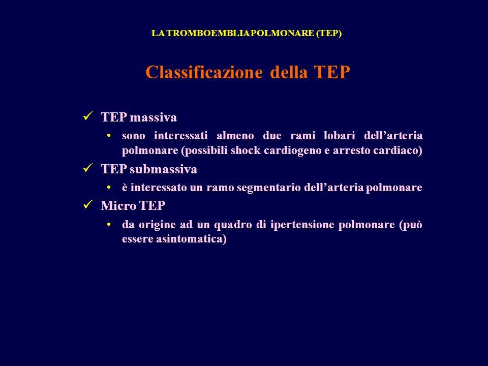 Classificazione della TEP