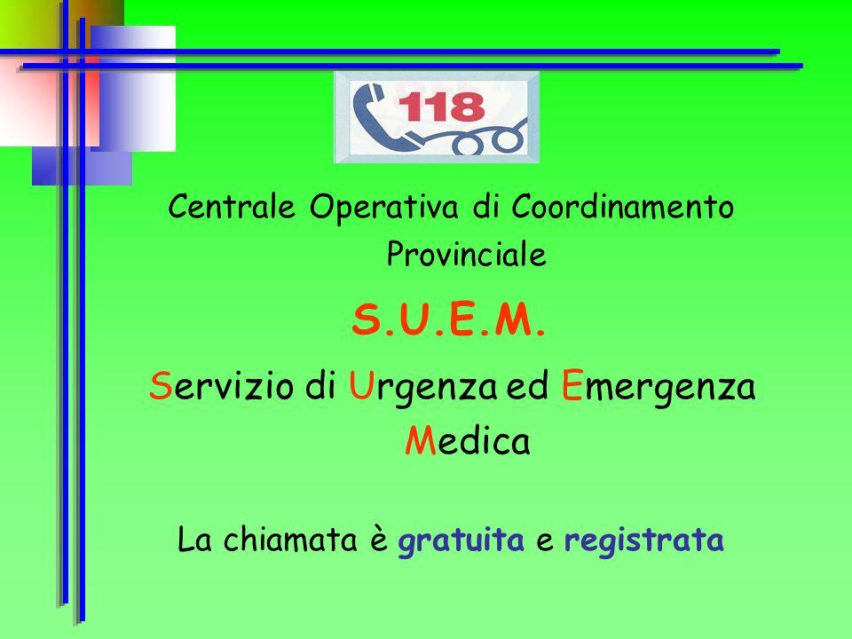 S.U.E.M. Servizio di Urgenza ed Emergenza Medica
