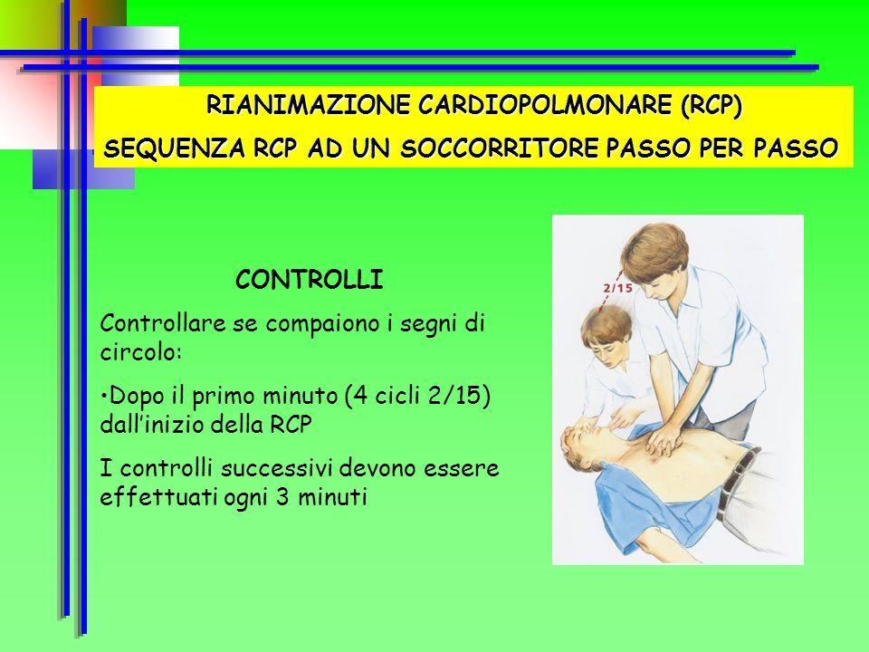 RIANIMAZIONE CARDIOPOLMONARE (RCP)