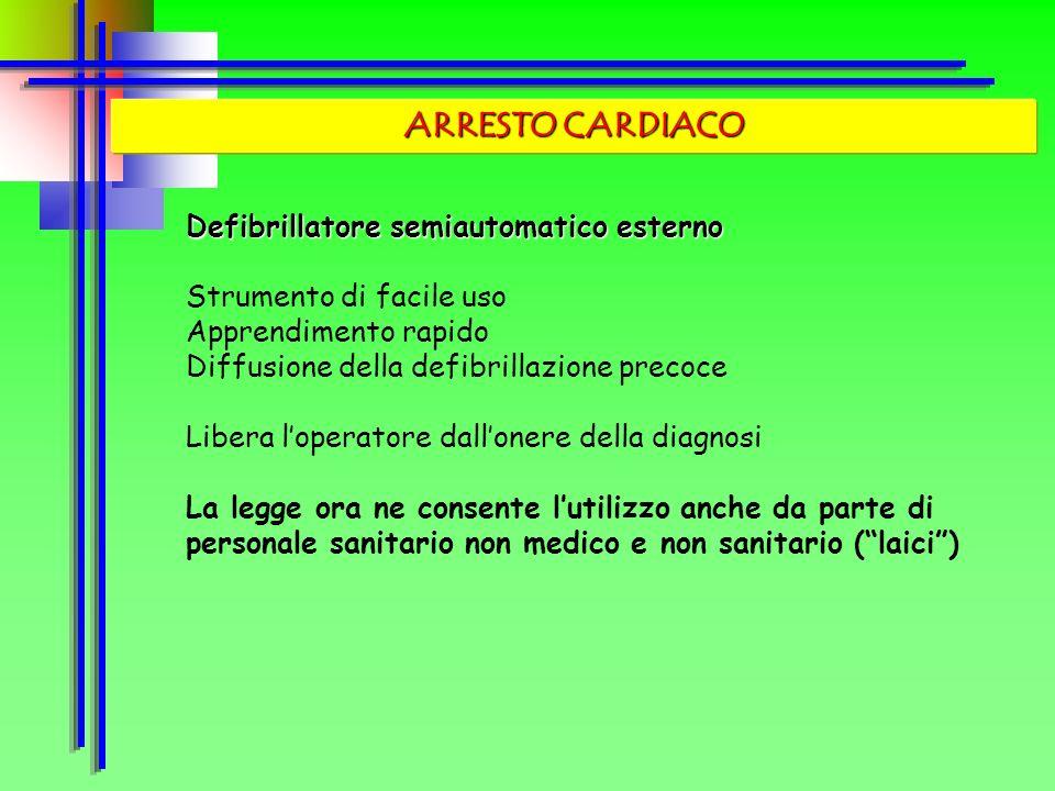 ARRESTO CARDIACO Defibrillatore semiautomatico esterno