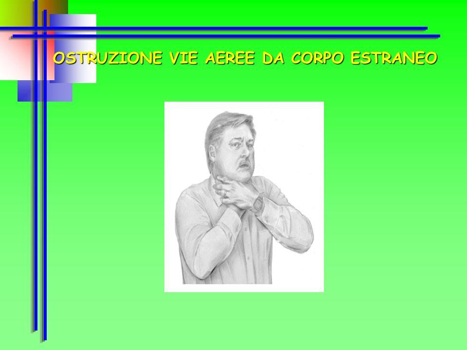 OSTRUZIONE VIE AEREE DA CORPO ESTRANEO