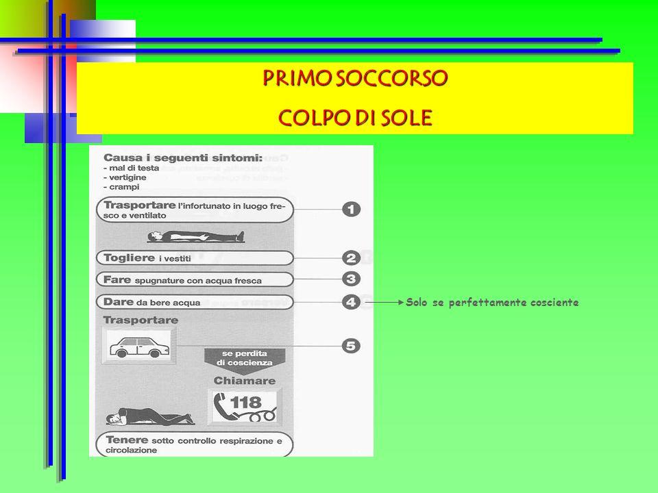 PRIMO SOCCORSO COLPO DI SOLE