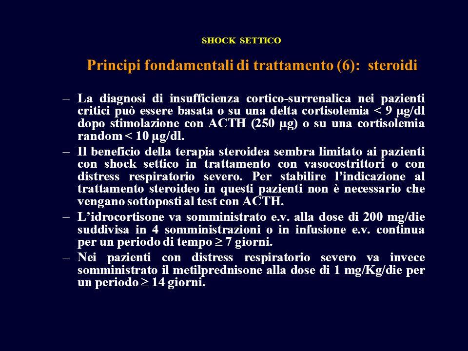 Principi fondamentali di trattamento (6): steroidi