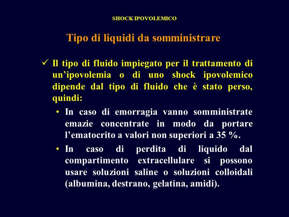 Tipo di liquidi da somministrare