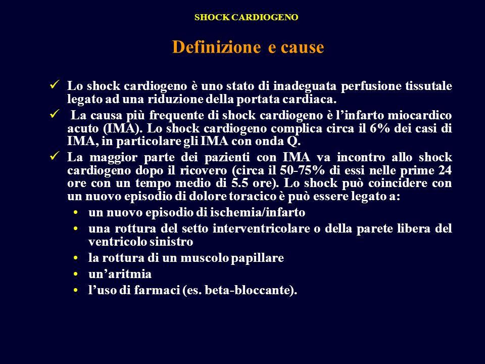 SHOCK CARDIOGENODefinizione e cause.