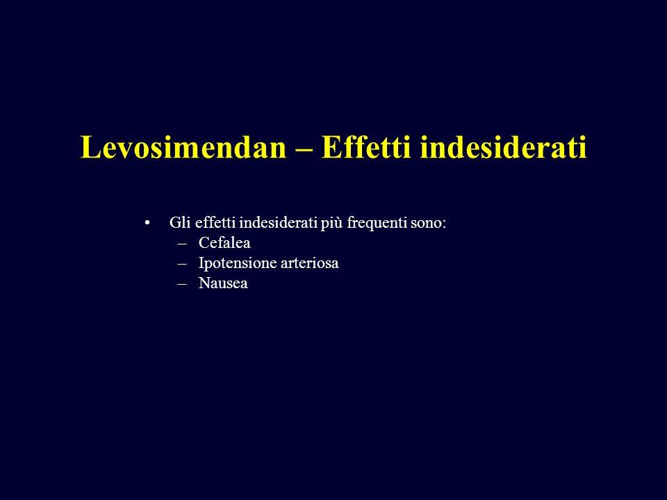 Levosimendan – Effetti indesiderati
