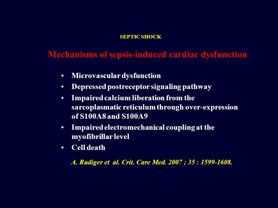 Mechanisms of sepsis-induced cardiac dysfunction