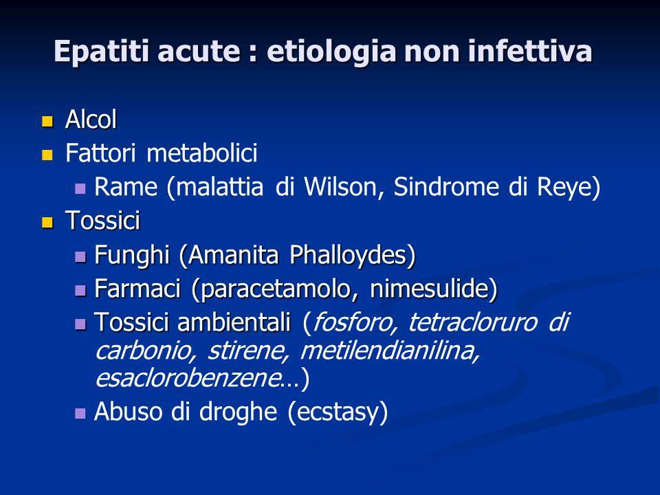 Epatiti acute : etiologia non infettiva