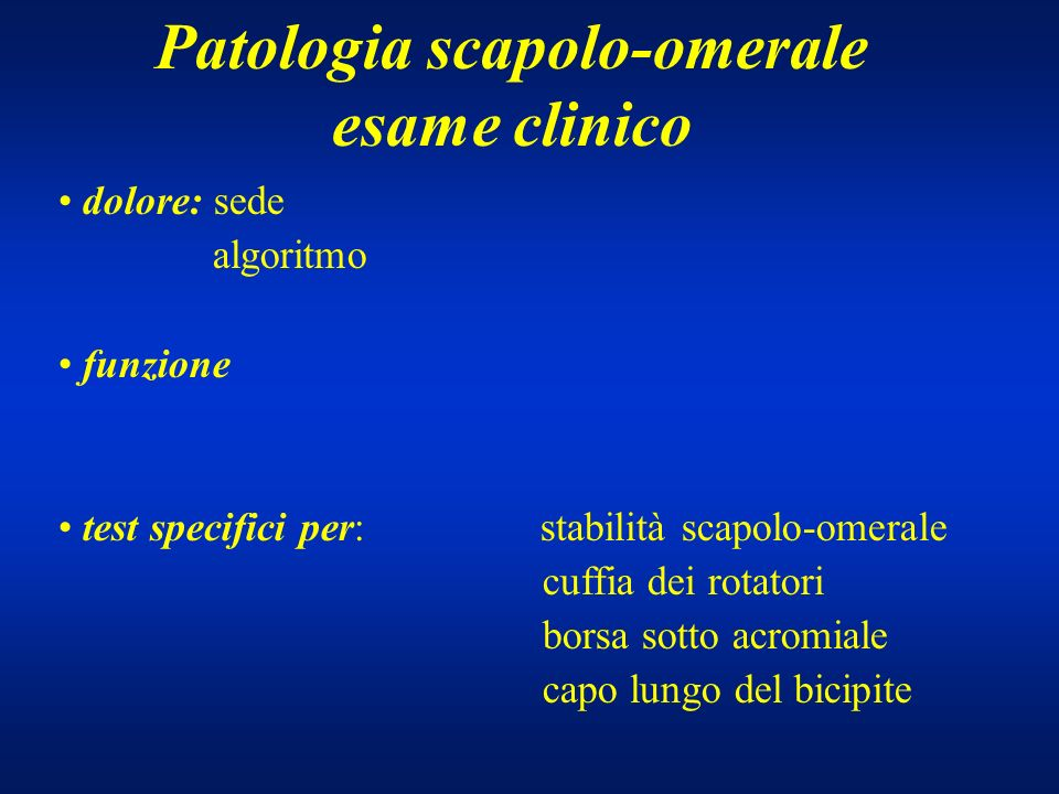 Patologia scapolo-omerale
