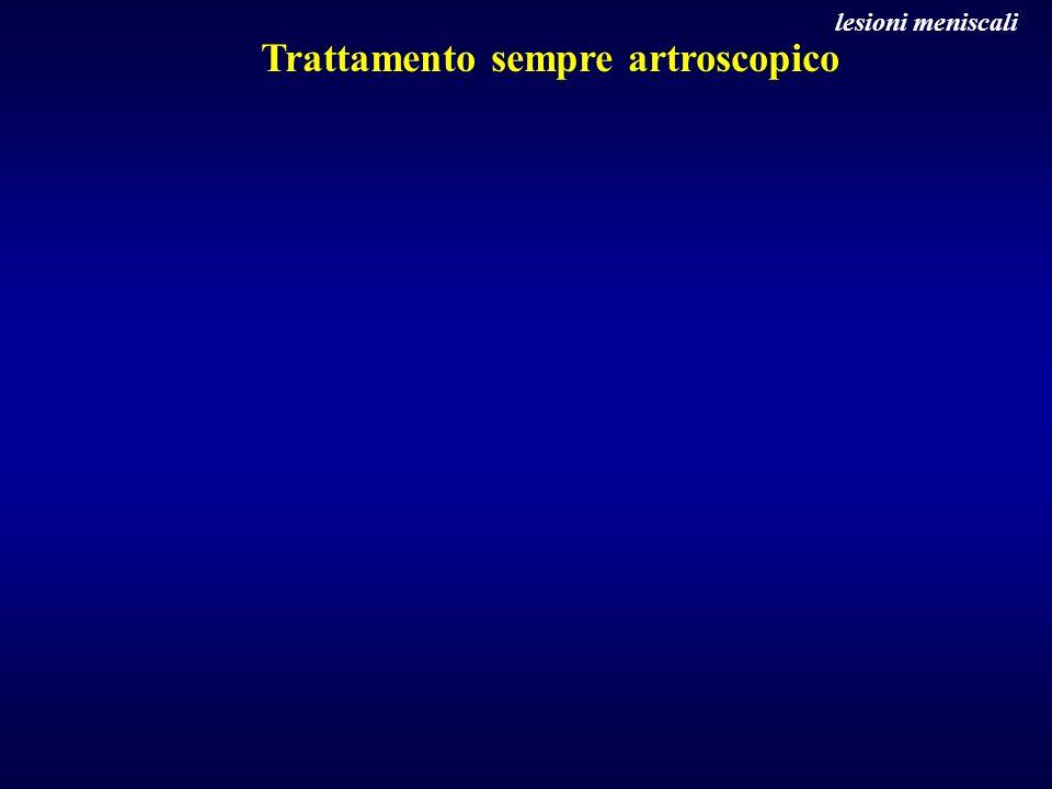 Trattamento sempre artroscopico