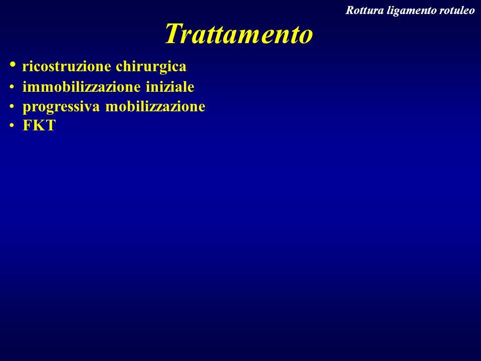 Trattamento ricostruzione chirurgica immobilizzazione iniziale