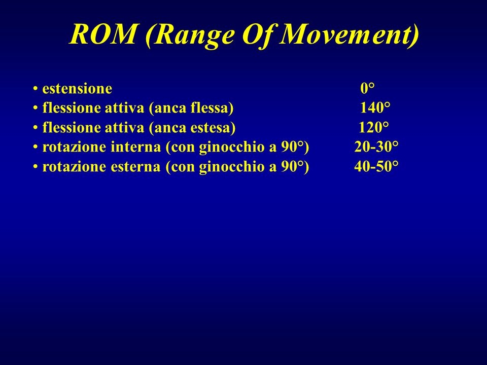 ROM (Range Of Movement)