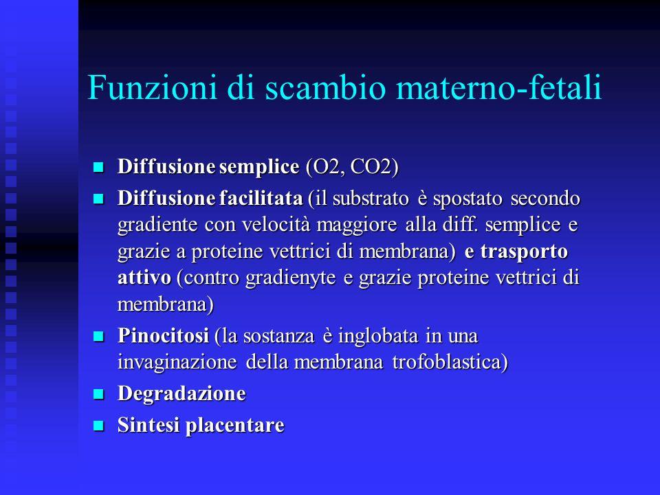 Funzioni di scambio materno-fetali