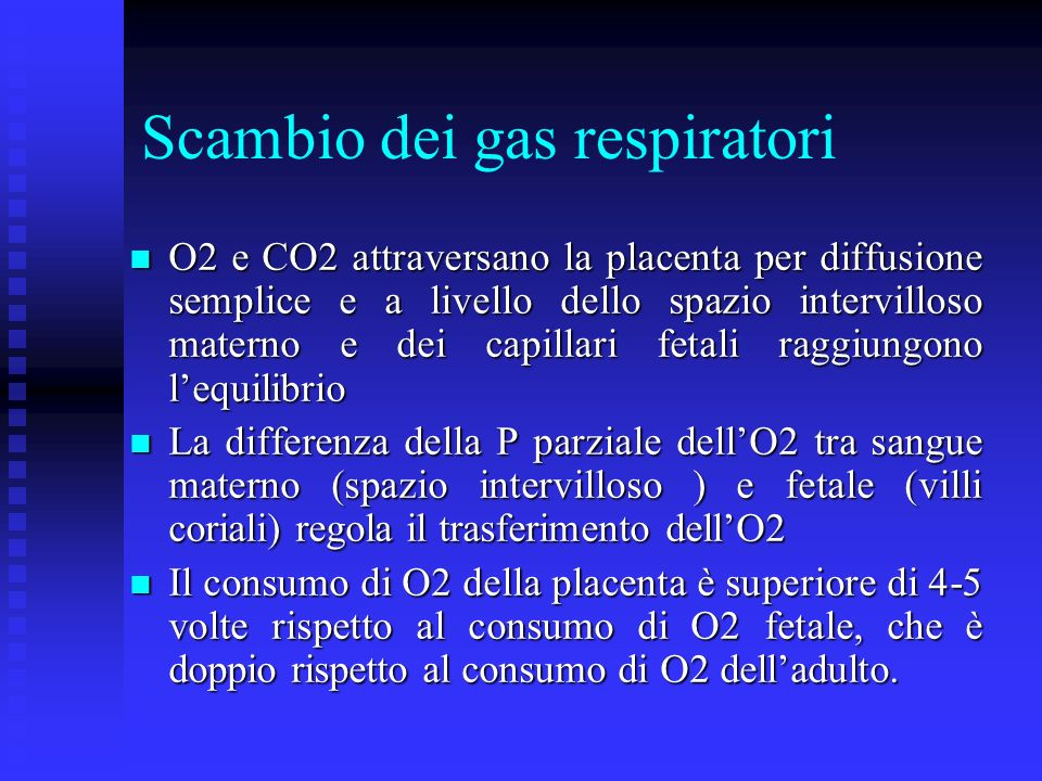 Scambio dei gas respiratori